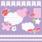 Set of scrapbook elements Royalty Free Stock Images