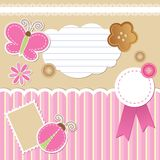 Set of scrapbook elements Royalty Free Stock Photos