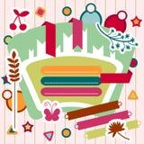 A set of scrapbook elements. A set of decorative scrapbook elements stock illustration