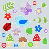 Set of scrapbook elements. Eps 10 Stock Photography