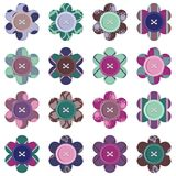 Set with scrapbook flowers Stock Images