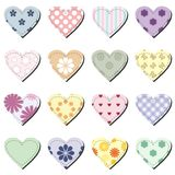 Set with scrapbook hearts Stock Photography