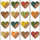 Set with scrapbook hearts Royalty Free Stock Photo
