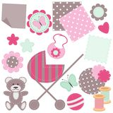 Set of scrapbook objects Royalty Free Stock Photography