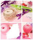 Set with scrapbooking Royalty Free Stock Photography