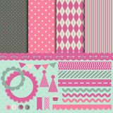Set for scrapbooking. Vector illustration Royalty Free Stock Images