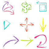 Set of scratch style abstract symbols Stock Photo