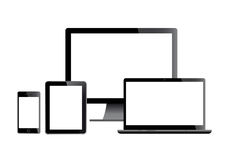 Set of screens Royalty Free Stock Image