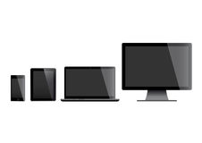 Set of screens stock illustration