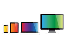 Set of screens Royalty Free Stock Photography
