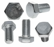 Set screw heads, bolt isolated Stock Images