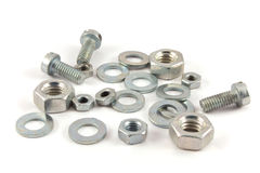 Set of screw, nut, bolt Royalty Free Stock Photo