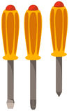 Set of screwdriver Stock Images