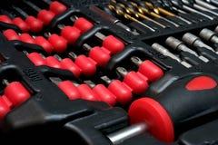 Set of screwdriver bits Stock Photos