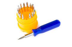 Set of screwdriver heads Stock Image