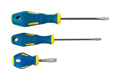 Set of screwdrivers. Isoloated on white background Stock Photos