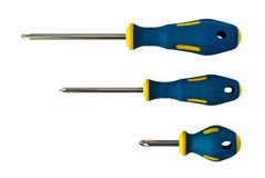 Set of screwdrivers. Isoloated on white background Royalty Free Stock Image