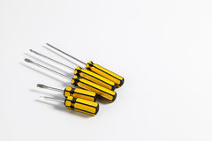 Set of screwdrivers Stock Images