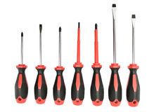 Set screwdrivers Stock Photography