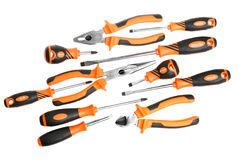 Set of screwdrivers and pliers Royalty Free Stock Photography