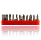 Set of screwdrivers in red plastic slip cover Royalty Free Stock Photography