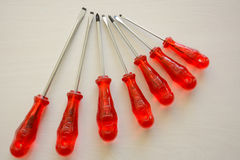Set of screwdrivers Stock Images