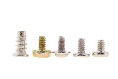 Set of screws Royalty Free Stock Photo
