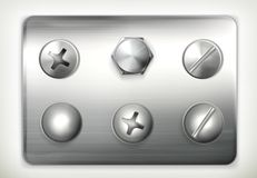 Set of screws Royalty Free Stock Photography