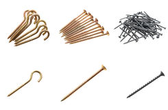 Set of screws. Royalty Free Stock Photos