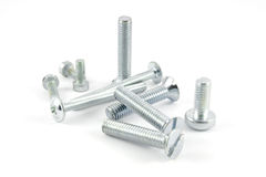 Set of screws and bolts Stock Photo