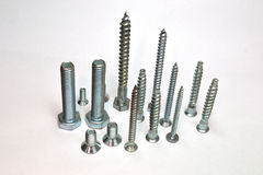 Set of screws Stock Photo