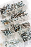 Set of Screws and Nails on white Royalty Free Stock Photography