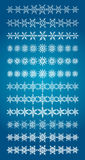 Set of scribble snowflakes vector borders Royalty Free Stock Images