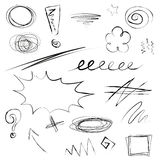 Set of scribbles illustration Royalty Free Stock Photo
