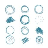 Set of scribbles for your design Stock Photos