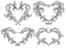 Set of scroll design elements. Stock Images