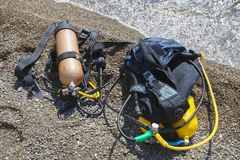 Set of Scuba Diving equipment. Stock Photography