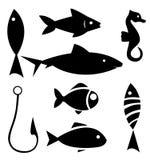 Set of sea animal and Stock Photos