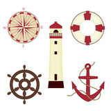 Set of sea icons Stock Photos