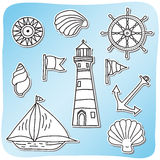 Set of sea icons Royalty Free Stock Photos