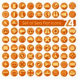 Set of sea icons Stock Photography