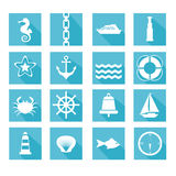 Set of sea icons Royalty Free Stock Images