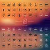 Set of sea icons Stock Images
