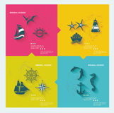 Set of sea labels Royalty Free Stock Photos