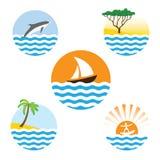 Set of sea logos Royalty Free Stock Image