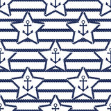 Set of sea and nautical seamless patterns. Vector illustration. Set of sea and nautical seamless patterns. Vector illustration nautical pattern abstract textile Stock Photos