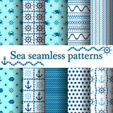 Set of sea seamless Stock Photos
