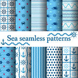 Set of sea seamless Stock Images