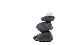 Set of sea stones on white Stock Photos
