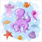 Set on a sea theme vector illustration